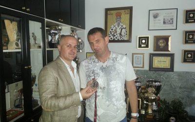 Miki Radosavljević u poseti najdražem klubu